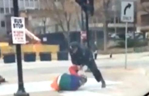 Clown cop fight in Milwaukee