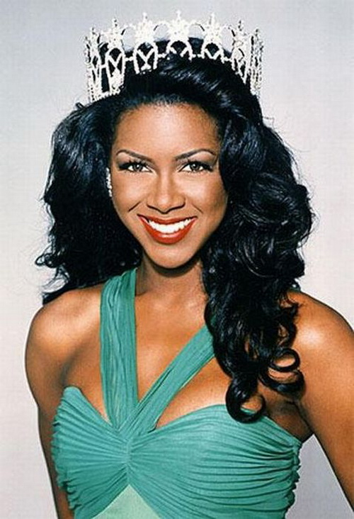 Real Housewives of Atlanta's Kenya Moore as Miss USA 1993