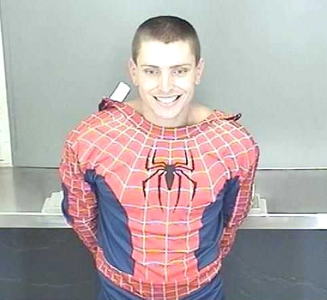 Daniel James Bradley arrested in Spider-Man costume