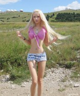 Ukrainian human Barbie model Valeria Lukyanova
