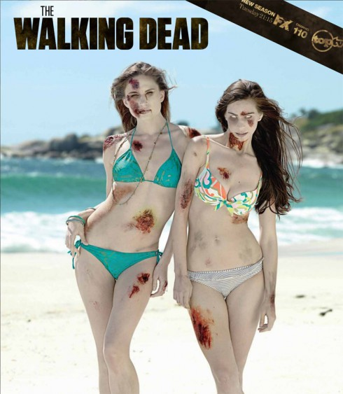 South African The Walking Dead bikini zombie calendar