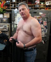 Wayne Cohen of Hardcore Pawn: Chicago shirtless