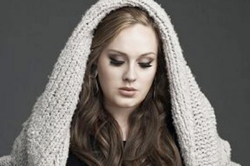 Singer Adele poses in Mother Mary like photo