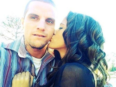 Courtland Roger and Jenelle Evans pose together