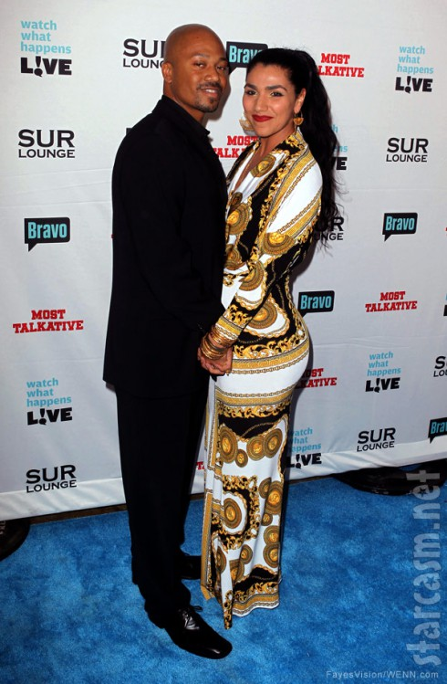 Asa Soltan Rahmati and Jermaine Jackson Jr together at Andy Cohen's SUR book signing