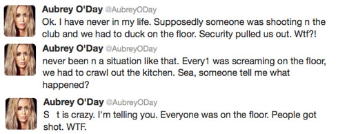 Aubrey-O'Day-nightclub-shooting-tweets
