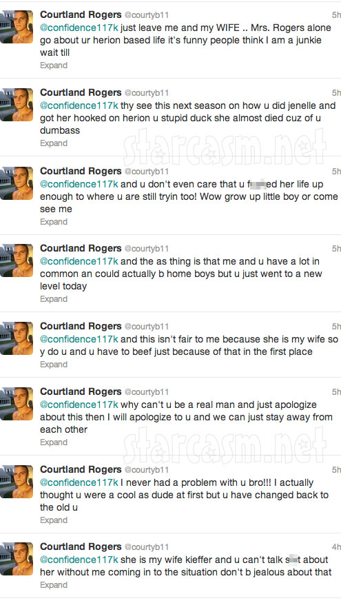 Courtland Rogers tweets claiming Kieffe Delp got Jenelle Evans strung out on heroin