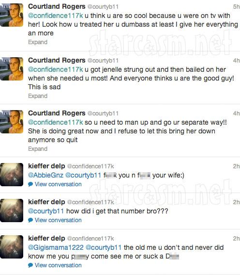 Courtland Rogers tweets about Jenelle Evans using heroin to Kieffer Delp