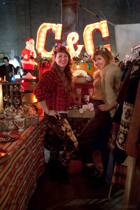 Storage Wars New York's Courtney Wagner and Candy Olsen at a C and C Pop-up Shop event