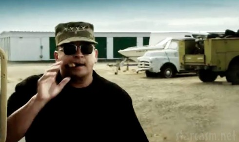 Dave Hester in military uniform from Storage Wars Lockbuster trailer