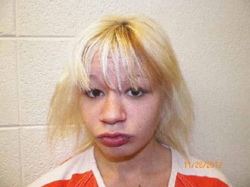Teen bank robber Hannah Sabata mug shot photo