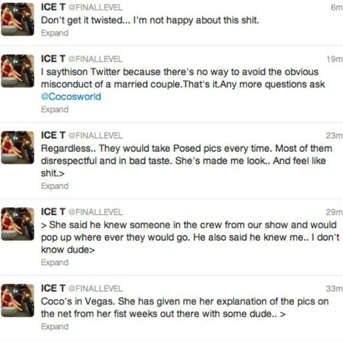 Deleted Ice T tweets about the intimate Coco and AP9 photos from Las Vegas