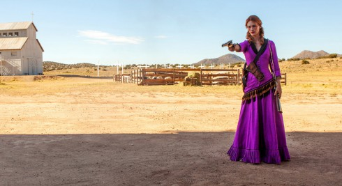 January Jones as a gun toting former prostitute in Sweetwater