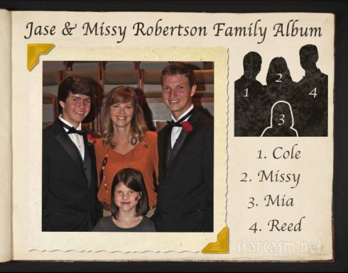 Jase Robertson Family album 490x385 PHOTOS Duck Dynasty Family Album: Jase and Missy Robertson's three children