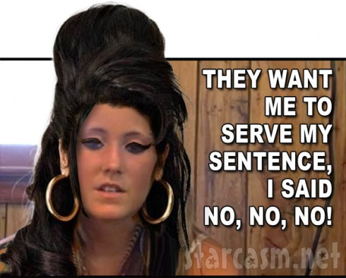 Teen Mom Jenelle Evans as Amy Winehouse