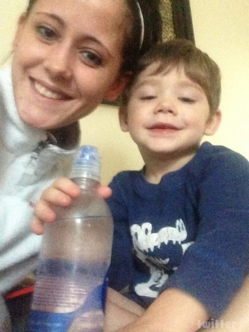 Teen Mom Jenelle Evans with son Jace Evans