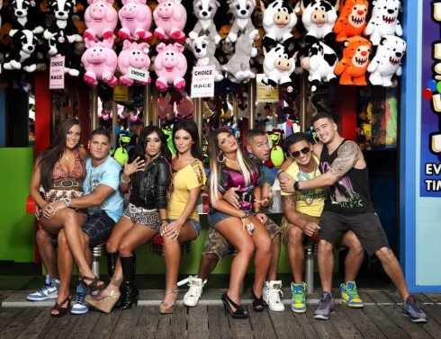 Jersey Shore cast photo on the Boardwalk
