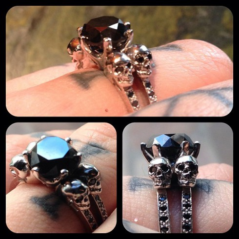Kat von D engagement ring photos from Deadmau5