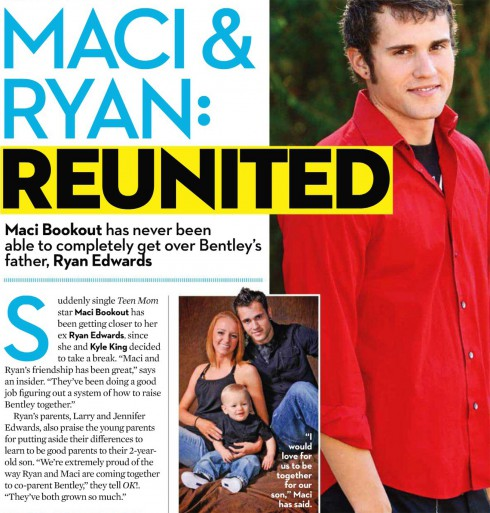 OK magazine story about Teen Mom Maci Bookout and Ryan Edwards getting back together