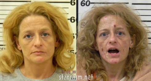 Melissa Wolf before and after meth mug shot photos
