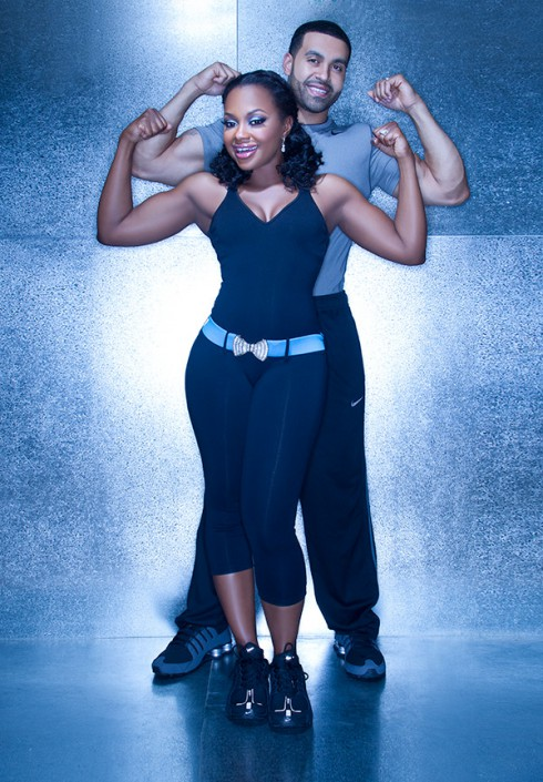 Phaedra Parks and husband Apollo Nida Phine Body DVD photo