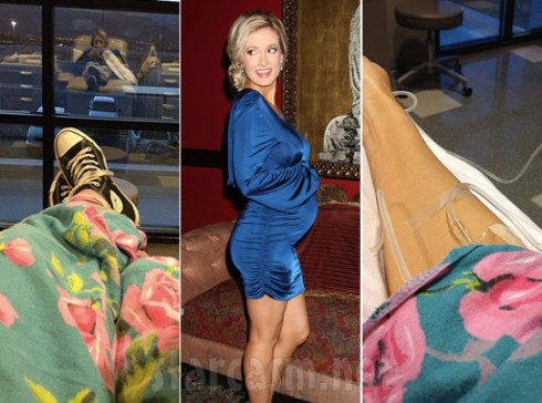 Holly Madison in the hospital suffering from extreme morning sickness