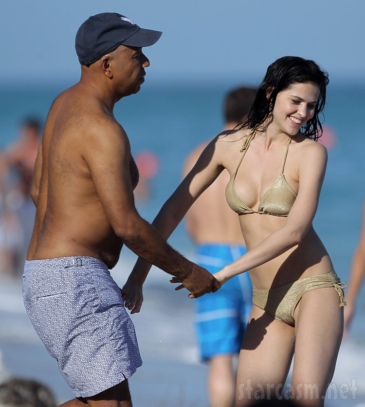 Hana Nitsche with Russell Simmons