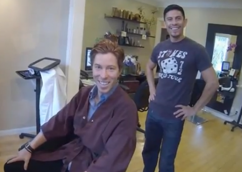 Shaun White cut his hair