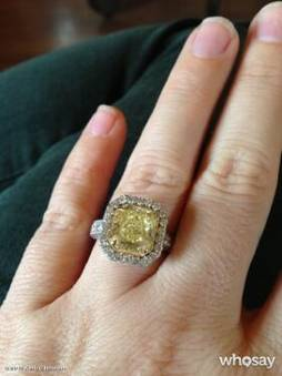 Yellow Canary Diamond Wedding Rings 27 Vintage Kelly Clarkson us engagement
