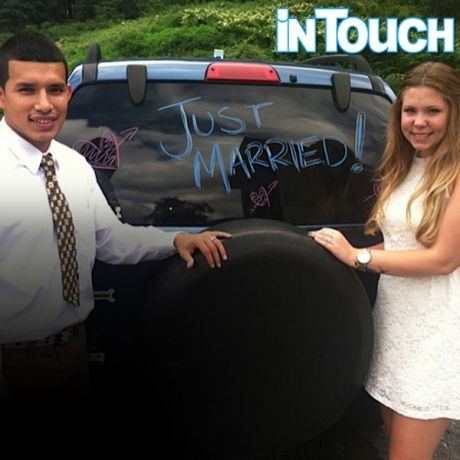 'Teen Mom 2' star Kail Lowry and Javi Marroquin 'Just Married' wedding photo