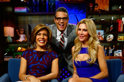 Brandi Glanville appears on Bravo's 'Watch What Happens Live' with Hoda Kotb and Andy Cohen
