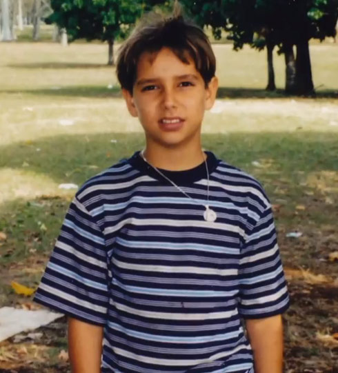 America Idol's lazaro Arbos as a kid