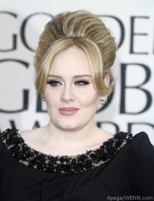 Adele at Golden Globes, January 2012