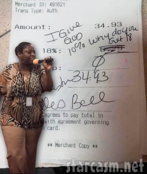 Alois Bell Applebee's receipt