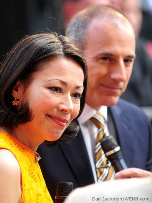 Ann Curry and Matt Lauer on Today