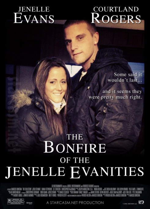 Jenelle Evans and Courtland Rogers Bonfire of the Vanities movie poster parody