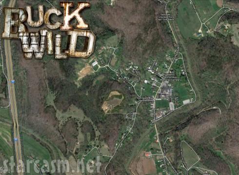 Buckwild satellite map of Sissonville West Virginia