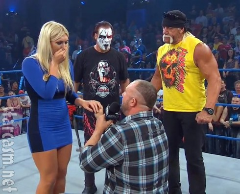 Brooke Hogan wedding proposal from Bully Ray on TNA Impact Wrestling