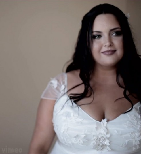Cassandra Estevez Huffman wedding dress photo