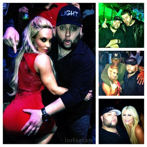 Mustafa Abdi grabbing Coco Austin's booty in Las Vegas