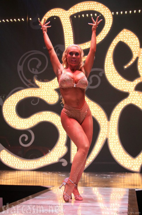 Coco Austin performing in Peepshow revue in Las Vegas