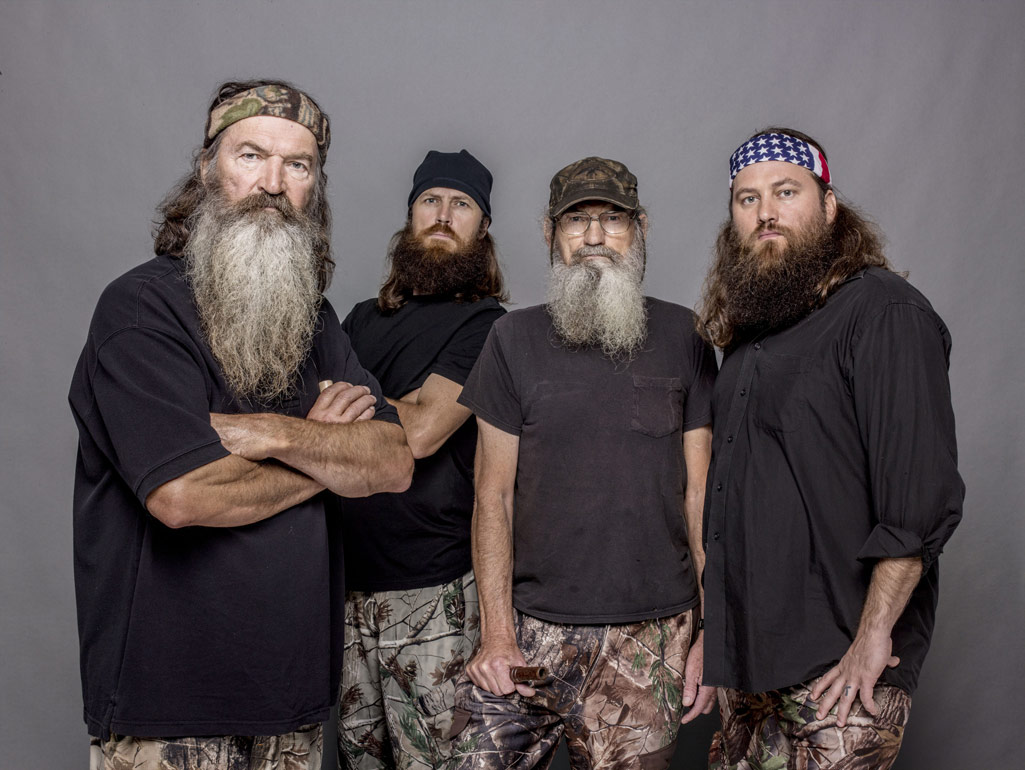 Duck Dynasty Phil Robertson Jase Robertson Uncle Si Robertson Willie ...