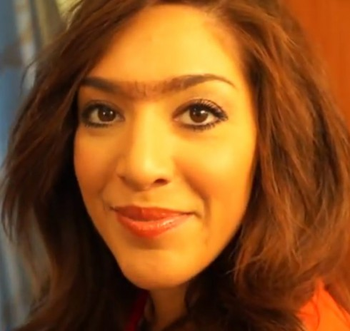 Farrah Abraham sports a unibrow
