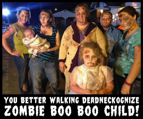 Honey Boo Boo's family as zombies for Halloween You better walking deadneckognize zombie boo boo child!