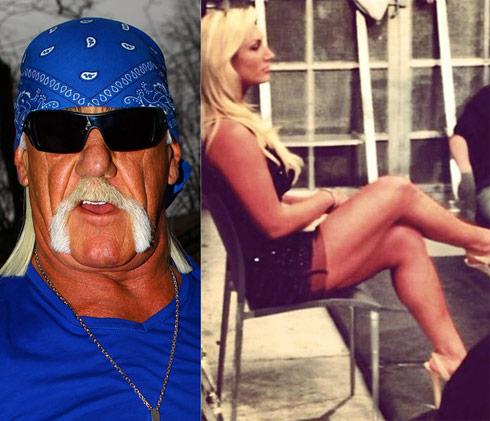 Hulk Hogan tweets Brooke Hogan's legs