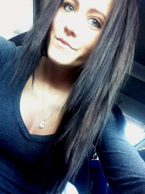 Jenelle Rogers Jenelle Evans with dark hair 2013