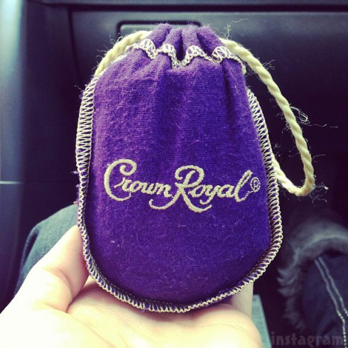 Jenelle Evans Crown Royal money bag