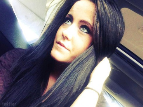 Teen Mom Jenelle Evans with dark hair
