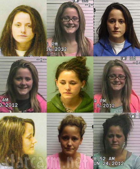 All of Jenelle Evans mugshots