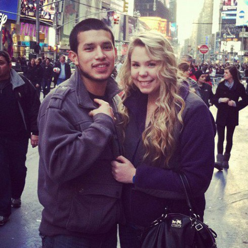 Kailyn Lowry and Javi Marroquin in New York City for Teen Mom 2 duties with MTV